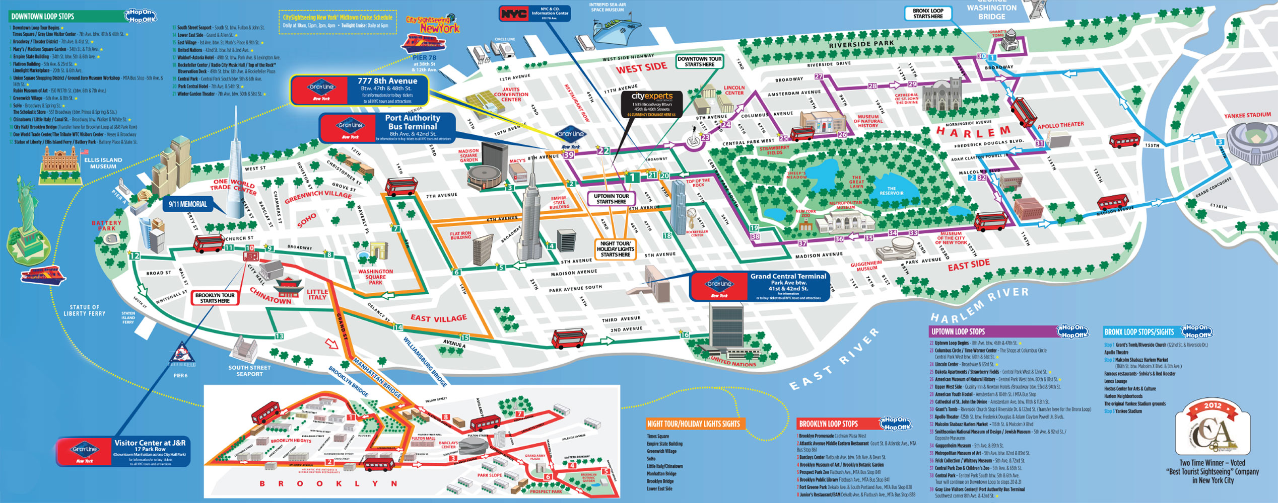 Tourist Attractions In New York Map New York Tourist Attractions – New York City Tourist Map PDF