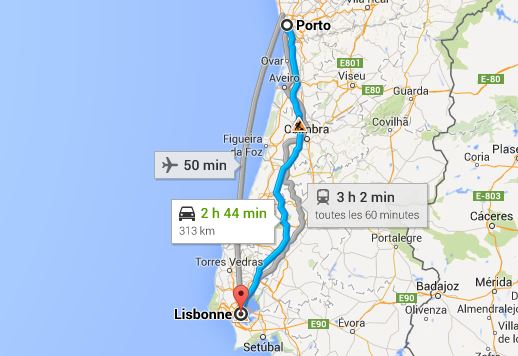 rejoindre-Porto-depuis-Lisbonne