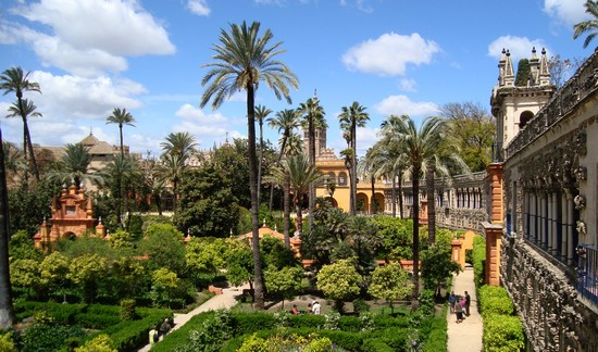 jardins de l'Alcázar-Séville