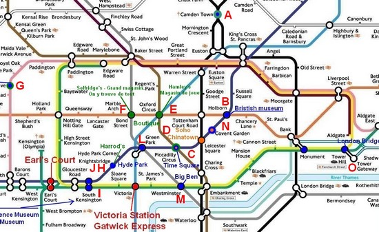 Plan de métro londres à imprimer | astuces voyages