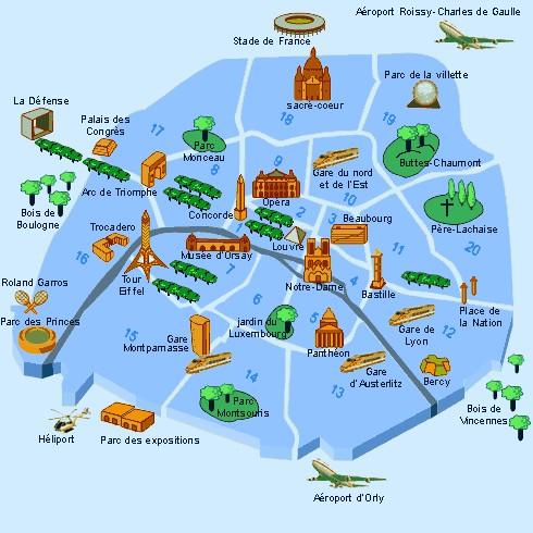Visiter paris en 3 jours for Lieux touristiques paris