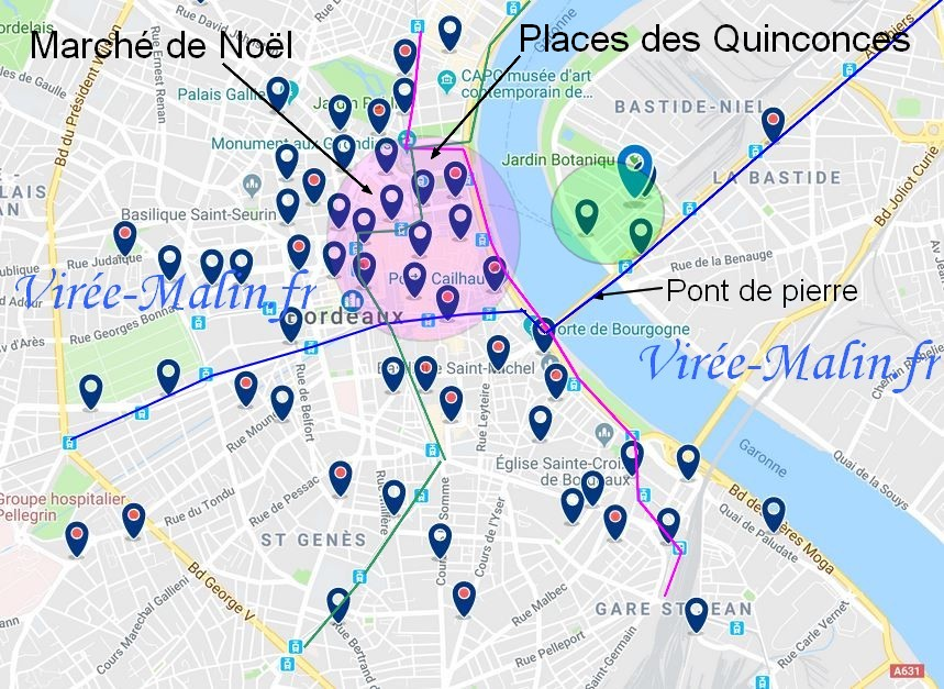 hotels-proches-marche-noel-Bordeaux