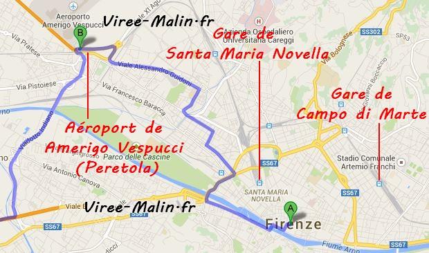 rejoindre-florence-depuis-aeroport-Amerigo-Vespucci-Peretola