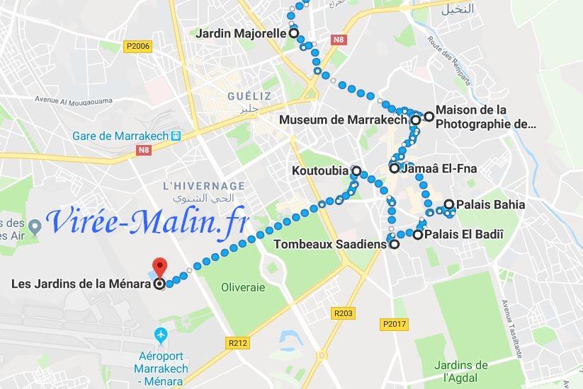 que-voir-marrakech-googlemap