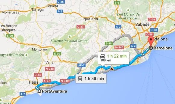 rejoindre-port-aventura-depuis-barcelone