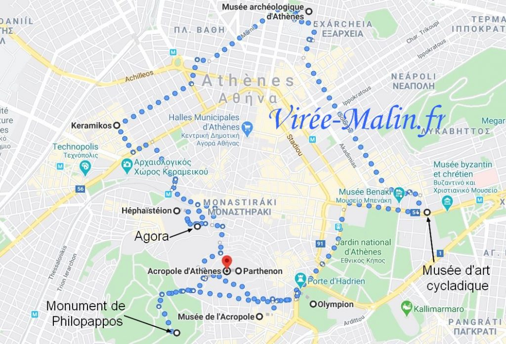 carte-que-voir-athenes-googlemap
