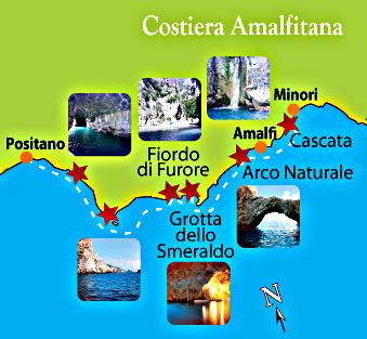 Carte-Cote Amalfitaine
