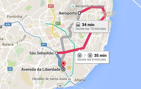 Aeroport lisbonne centre ville lisbonne