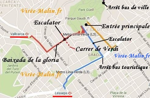 station-metro-parc-guell-escalator