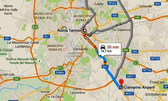 rejoindre-rome-depuis-aeroport-ciampono