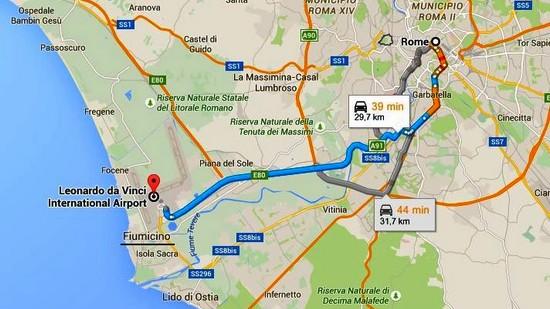 Centre Ville Rome Vers Aeroport