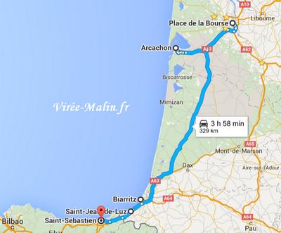 plan de route pour visiter cote ouest france