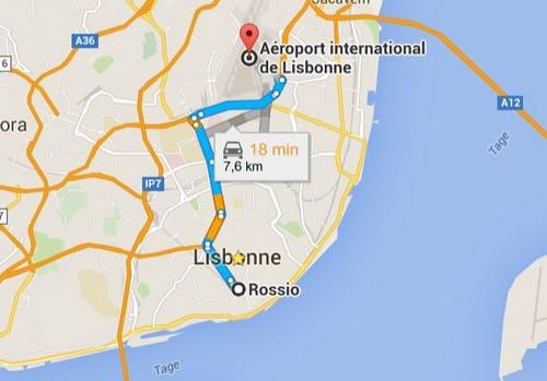 Rejoindre Aeroport Centre Ville Lisbonne