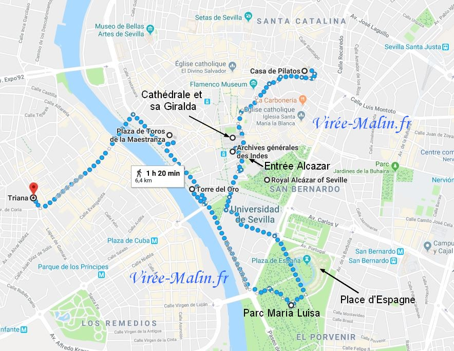 plan-visite-seville-googlemap