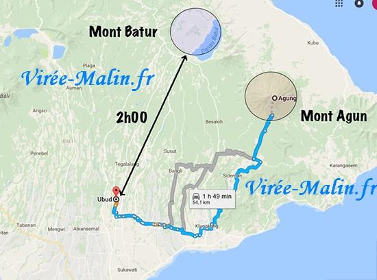 Mont-Agun-mont-batur-Bali
