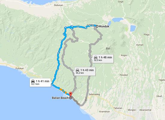 itineraire-munduk-balian-beach-bali