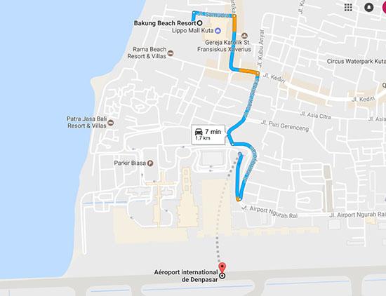 rejoindre-aeroport-Kuta-Plage-Bali