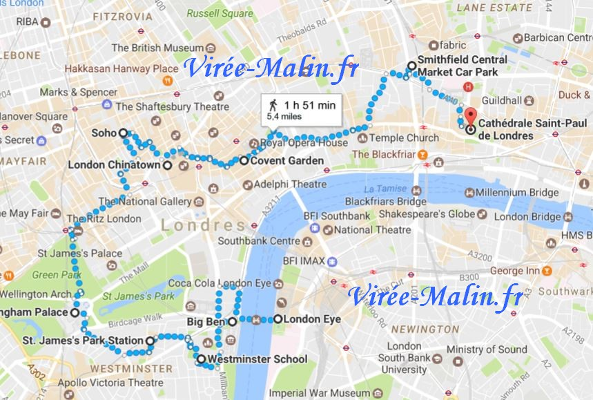 programme-balade-velo-londres-googlemap