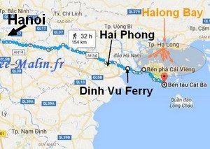 Rejoindre Cat Ba depuis Hanoi