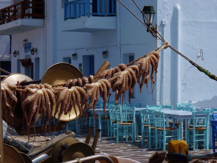 paros-cyclades-port-pecheur-naoussa-poulpes