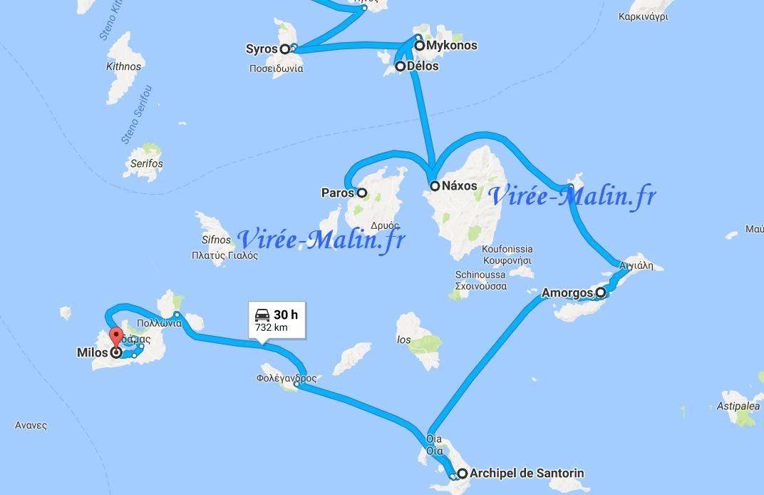 planning-iles-cyclades-googlemap