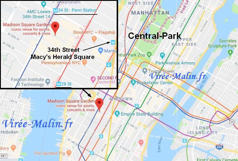 googlemap-rejoindre-madison-square-garden-nba
