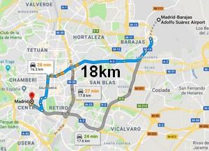 rejoindre-madrid-depuis-aeroport-Barajas