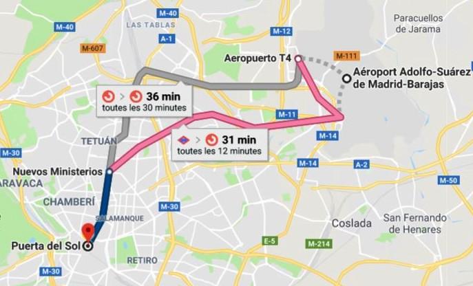 rejoindre-madrid-depuis-aeroport-bus-metro-taxi
