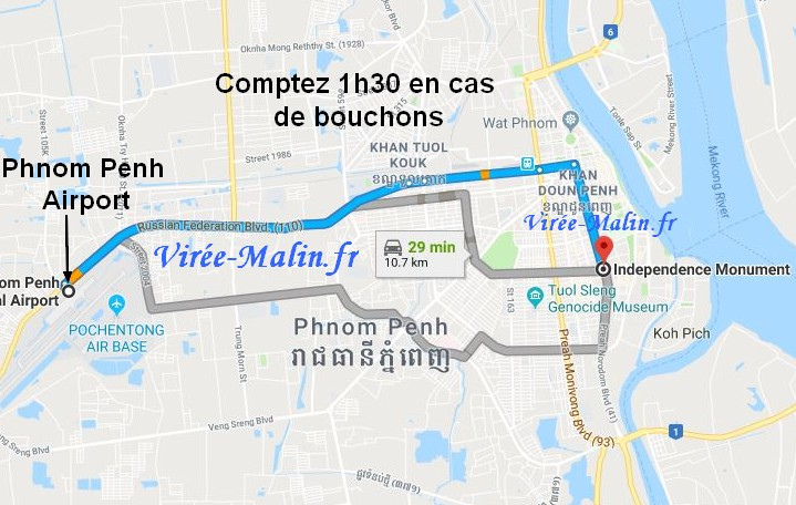 rejoindre-centre-ville-phnom-penh-depuis-aeroport-international-phnom-penh