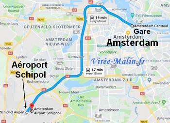rejoindre-amsterdam-depuis-aeroport-Schiphol