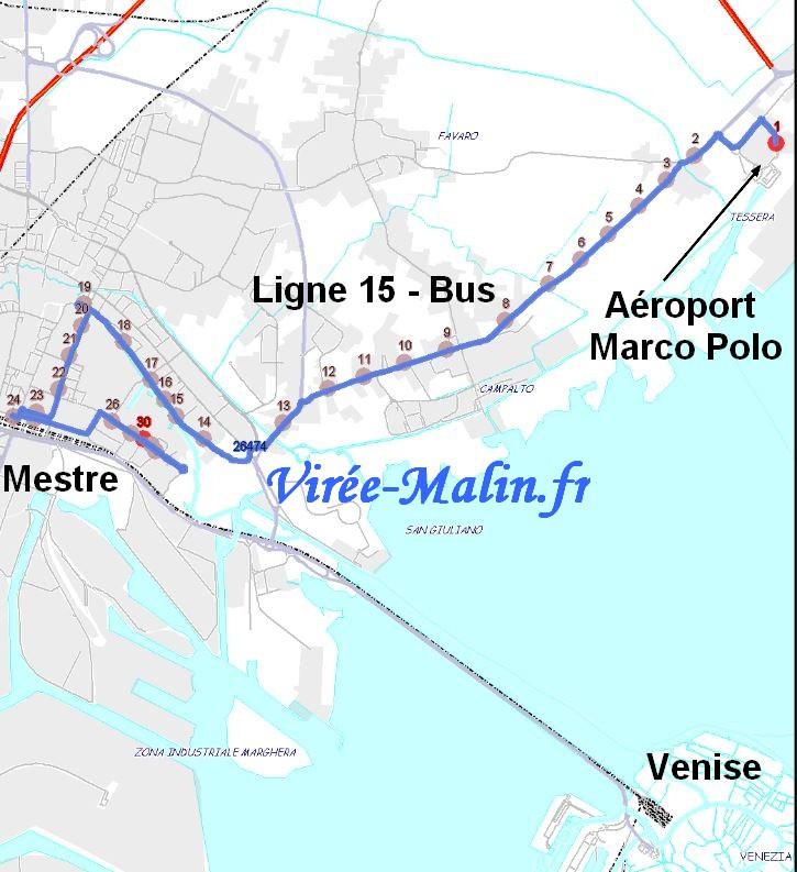 Rejoindre Mestre depuis Marco Polo en Bus Ligne 15