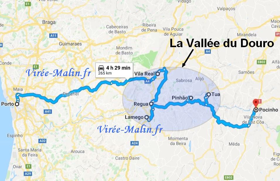 plan-visite-vallee-douro-googlemap