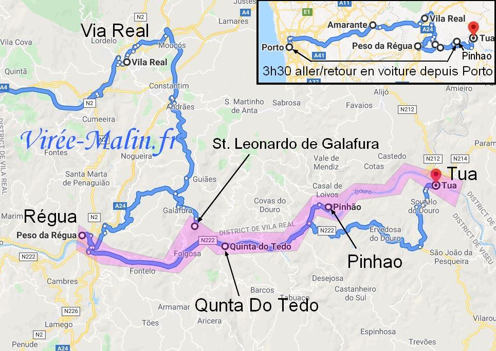 visiter-vallee-douro-carte