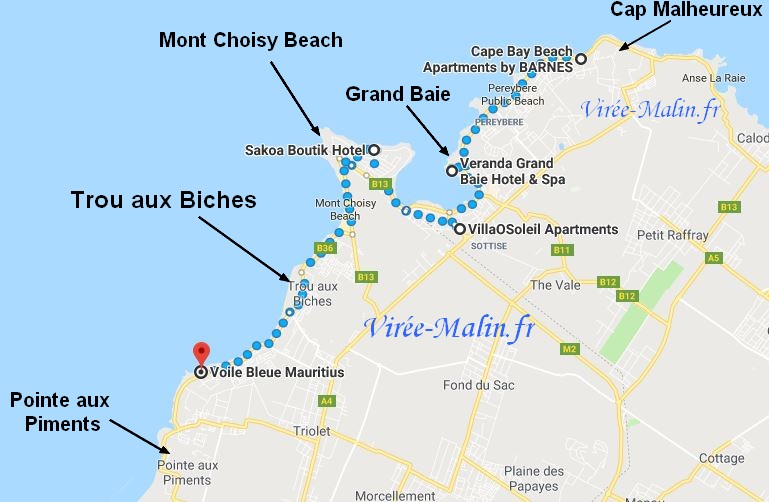 https://www.google.fr/maps/dir/Cape+Bay+Beach+Apartments+by+BARNES,+Cap+Malheureux,+Maurice/Veranda+Grand+Baie+Hotel+%252526+Spa,+Route+Royale,+Grand+Baie,+Maurice/Villa+OSoleil,+Grand+Bay,+Maurice/Sakoa+Boutik+Hotel,+Costal+Rd,+Trou+aux+Biches,+Maurice/Voile+Bleue+Mauritius,+Pointe+aux+Biches,+Maurice/@-20.0047312,57.5501314,12.75z/data=!4m32!4m31!1m5!1m1!1s0x217daa337431ca2f:0x226d8ad9c3d3424e!2m2!1d57.605185!2d-19.987001!1m5!1m1!1s0x217dab7a3f238337:0x4ac4271b61d50d4e!2m2!1d57.578935!2d-20.008438!1m5!1m1!1s0x217dab0d9f741f9b:0x5af62f0a6223e68a!2m2!1d57.5804788!2d-20.019591!1m5!1m1!1s0x217dab8294f671d3:0x6feb1581b1ad510a!2m2!1d57.5629442!2d-20.0045066!1m5!1m1!1s0x217c53368aee9e73:0x77f348f47f3e2a8d!2m2!1d57.52769!2d-20.04702!3e2