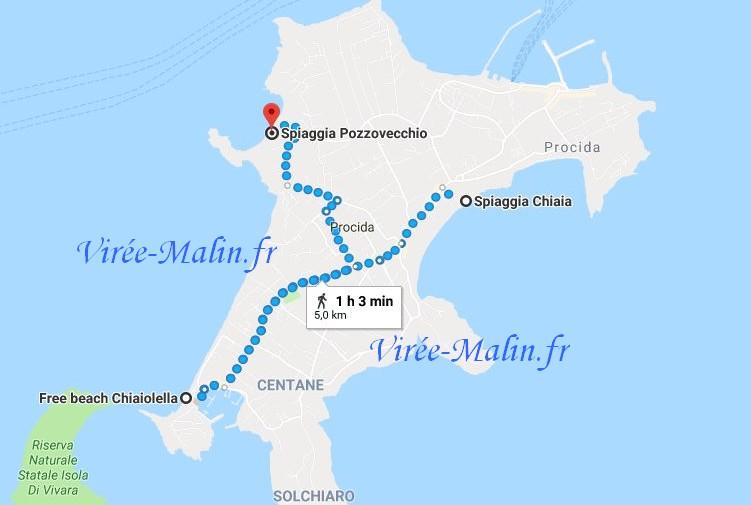 meilleurs-plages-ile-procida-googlemap