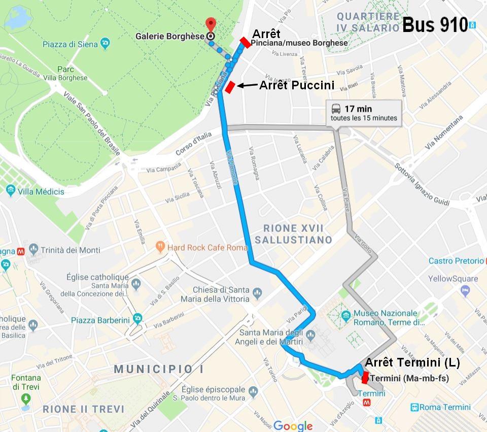 rejoindre-galerie-borghese-bus-depuis-gare-termini-rome