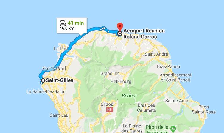 rejoindre-saint-gilles-depuis-aeroport-roland-garros-saint-denis