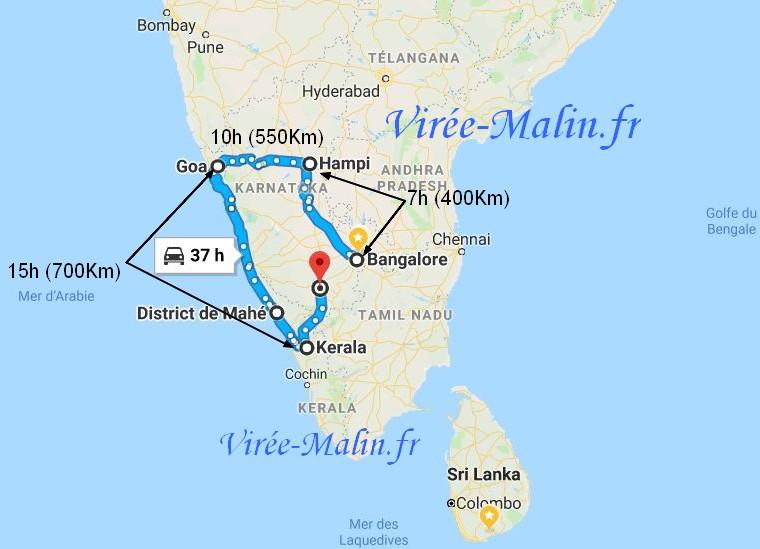 visiter-bangalore-carte-Karnataka