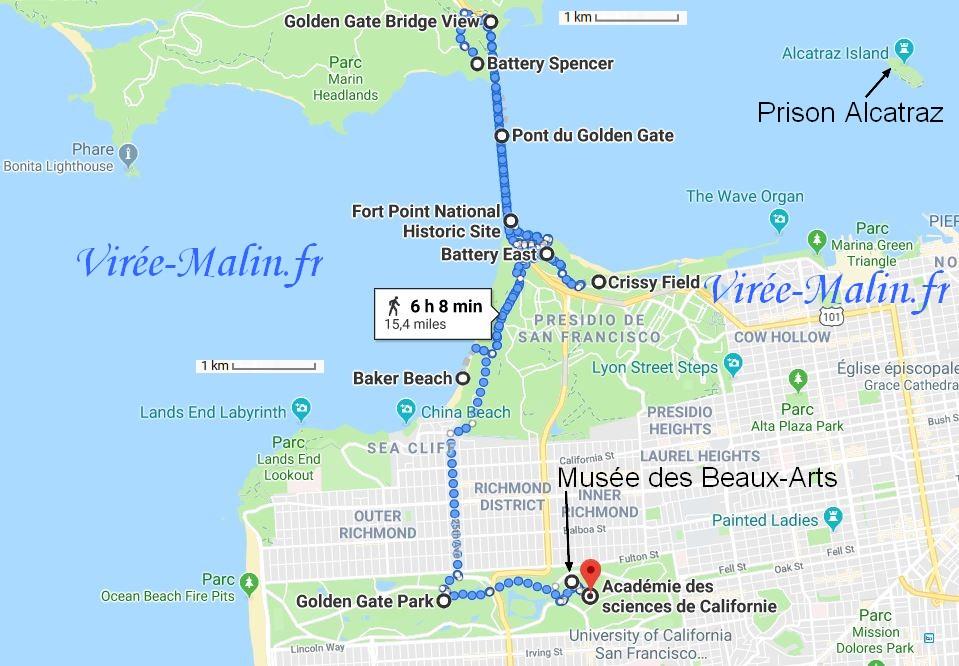 visiter-san-francisco-itineraire-googlemap