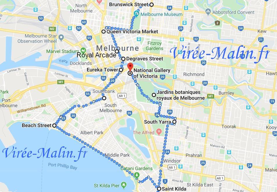 que-voir-melbourne-carte-google
