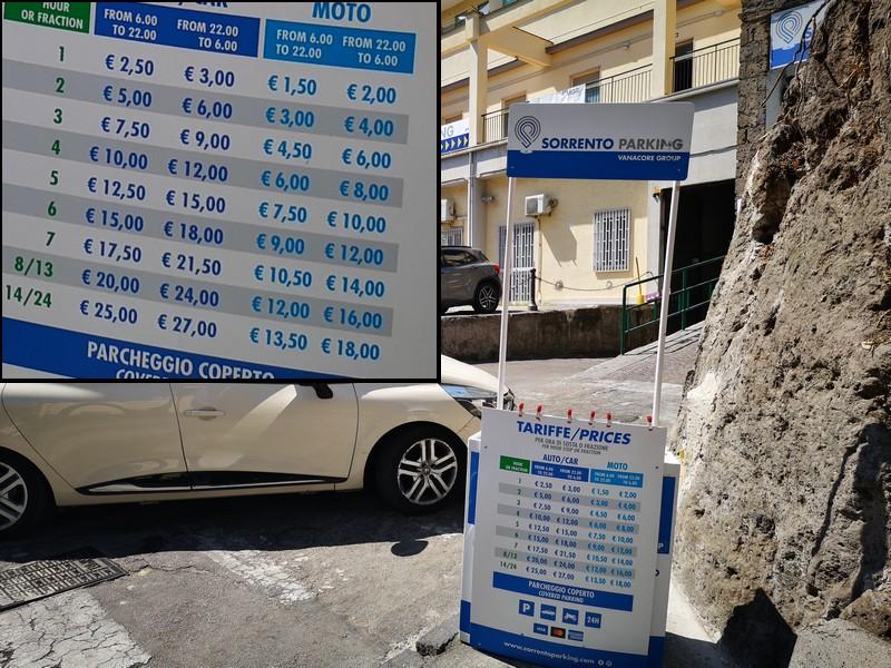 tarif sorrento parking