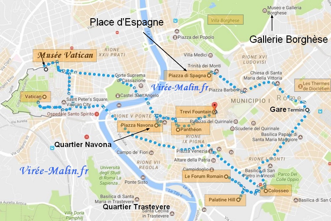 voyage-rome-plan-itineraire