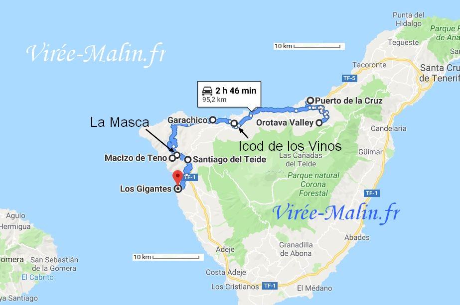 visite-cote-ouest-tenerife-carte