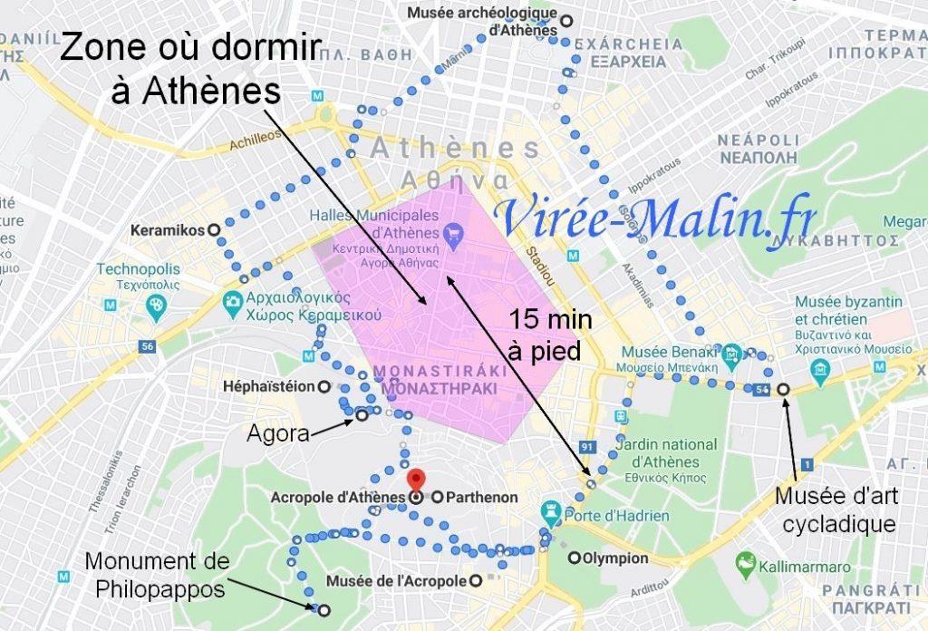 ou-loger-pour-etre-proche-des sites-touristique-athenes