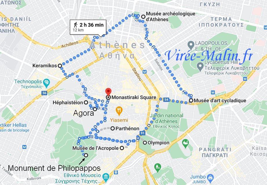 planGoogleMap-athenes-sites-incontournables