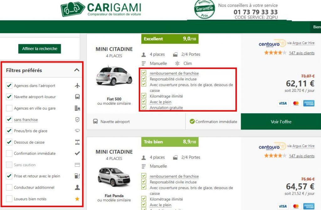 prix-location-porto-voiture-2-jours