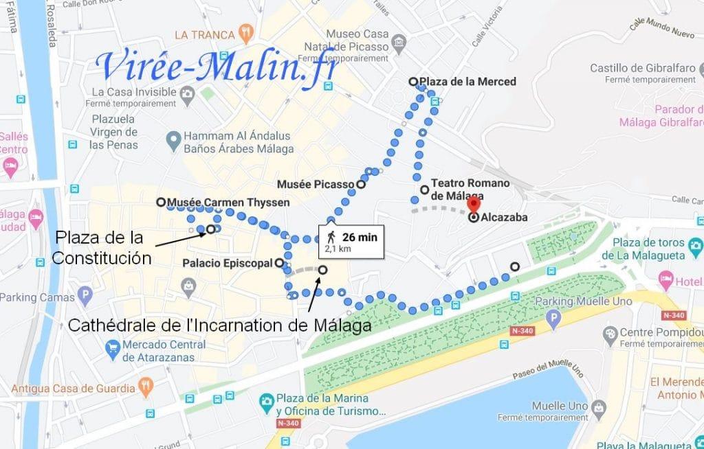 que-visiter-malaga-googlemap