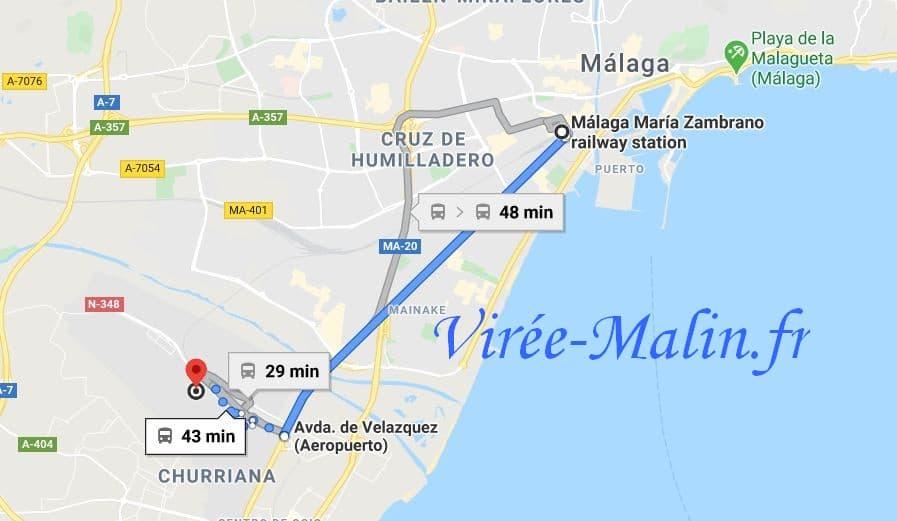 rejoindre-malaga-depuis-aeroport