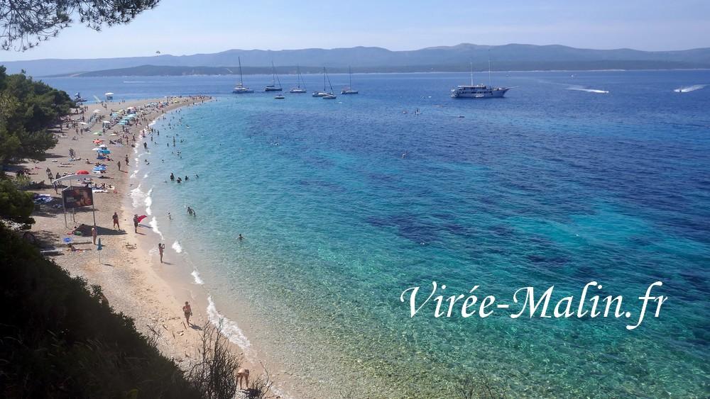 louer-bateau-grece-Zlatni-Rat-Brac-plage