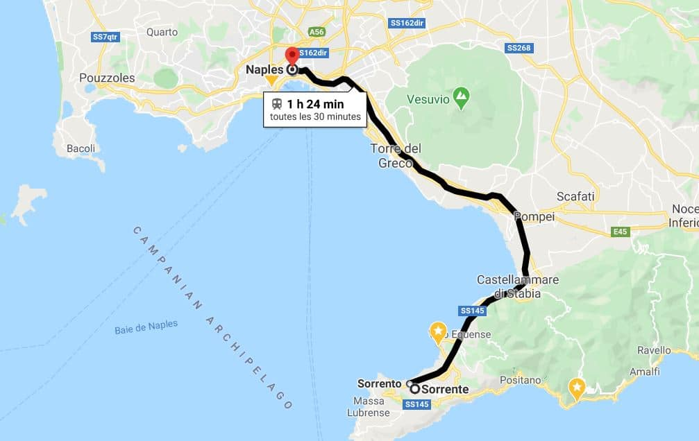 Naples-sorrento-en-train